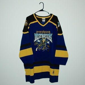 Vintage Sewn Disney Donald Duck Hockey Jersey